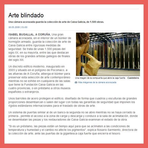 LA OPINIÓN DE A CORUÑA <br>(18/05/2008)