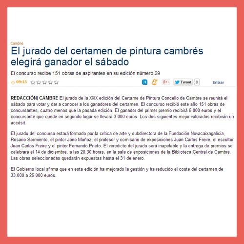 LA OPINIÓN DE A CORUÑA <br>(08/11/2012)