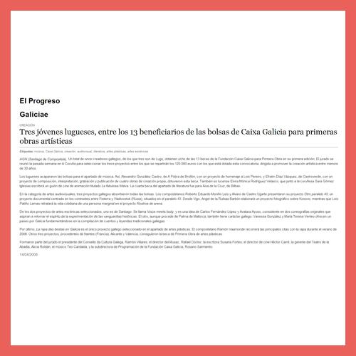 EL PROGRESO <BR>(14/04/2008)