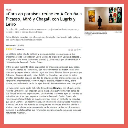 LA VOZ DE GALICIA (22/04/2010)