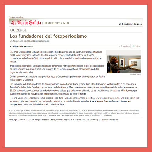 LA VOZ DE GALICIA <br>(17/11/2004)